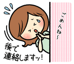 Sociable and friendly woman's stickers sticker #6742321