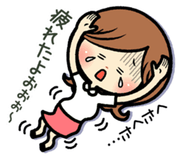 Sociable and friendly woman's stickers sticker #6742326