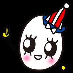 Kawaii Cute Useful boiled egg sticker