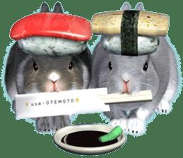 Expressive rabbit sticker sticker #6751461
