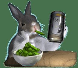 Expressive rabbit sticker sticker #6751486
