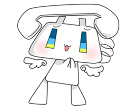 TELU-CHAN (Phone fairy, Telu-chan en) sticker #6761337