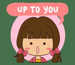 What a girl wants (ENG) sticker #6766364