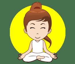 Meditation Couple Life sticker #6778714