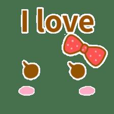 Cute look look(English) sticker #6798256