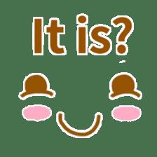 Cute look look(English) sticker #6798258