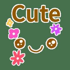 Cute look look(English) sticker #6798275
