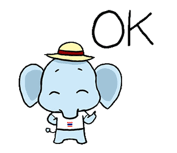 Thai Smiley Elephant sticker #6799372