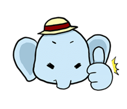 Thai Smiley Elephant sticker #6799375