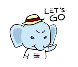 Thai Smiley Elephant sticker #6799379