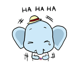 Thai Smiley Elephant sticker #6799380