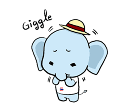 Thai Smiley Elephant sticker #6799381