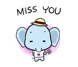 Thai Smiley Elephant sticker #6799382