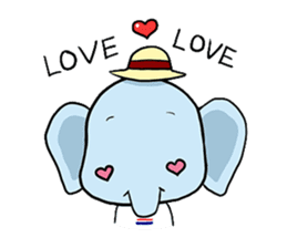 Thai Smiley Elephant sticker #6799383