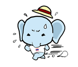 Thai Smiley Elephant sticker #6799385