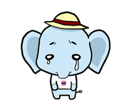 Thai Smiley Elephant sticker #6799387