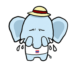 Thai Smiley Elephant sticker #6799388