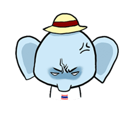 Thai Smiley Elephant sticker #6799401