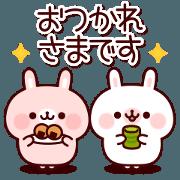 สติ๊กเกอร์ไลน์ Sticker of friendly rabbits