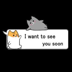 Encourage cats speech balloon