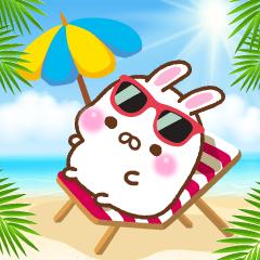 Summer of mochi rabbit
