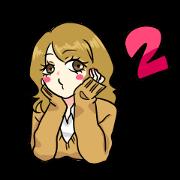 สติ๊กเกอร์ไลน์ Japanese Cute Girl 2