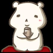 สติ๊กเกอร์ไลน์ A Capricious White Bear's Life