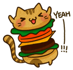 Yummy BurgerCat Vol.2 sticker #6809612