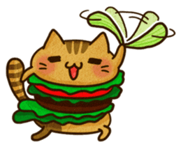 Yummy BurgerCat Vol.2 sticker #6809613