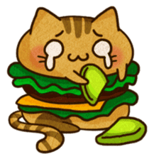 Yummy BurgerCat Vol.2 sticker #6809615