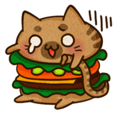 Yummy BurgerCat Vol.2 sticker #6809616