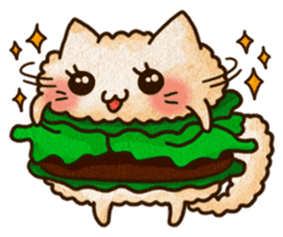 Yummy BurgerCat Vol.2 sticker #6809620
