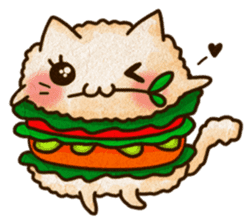 Yummy BurgerCat Vol.2 sticker #6809621