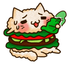 Yummy BurgerCat Vol.2 sticker #6809623