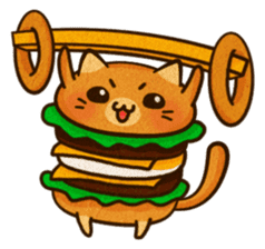 Yummy BurgerCat Vol.2 sticker #6809627