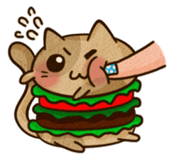 Yummy BurgerCat Vol.2 sticker #6809630