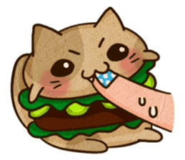 Yummy BurgerCat Vol.2 sticker #6809631