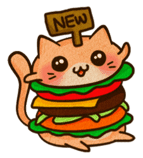 Yummy BurgerCat Vol.2 sticker #6809632