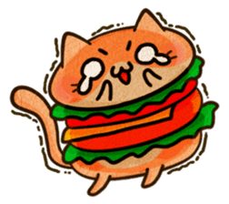Yummy BurgerCat Vol.2 sticker #6809635