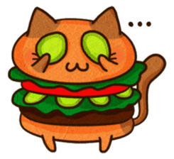 Yummy BurgerCat Vol.2 sticker #6809637