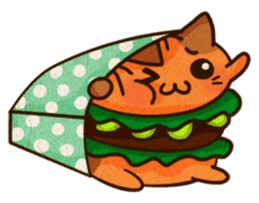 Yummy BurgerCat Vol.2 sticker #6809638