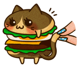Yummy BurgerCat Vol.2 sticker #6809640
