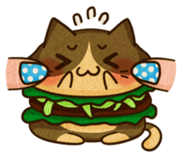 Yummy BurgerCat Vol.2 sticker #6809641