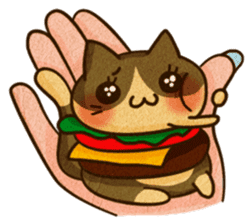 Yummy BurgerCat Vol.2 sticker #6809642