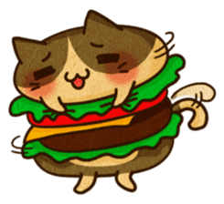 Yummy BurgerCat Vol.2 sticker #6809643