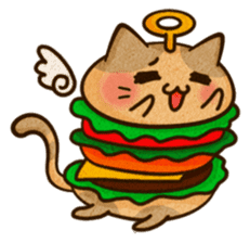 Yummy BurgerCat Vol.2 sticker #6809646