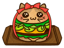 Yummy BurgerCat Vol.2 sticker #6809647