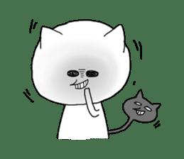 Reticent cat sticker #6813696