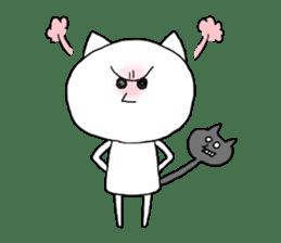 Reticent cat sticker #6813698
