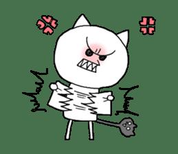 Reticent cat sticker #6813699